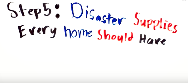 Step 5: Disaster Supplies Every Home Should Have
