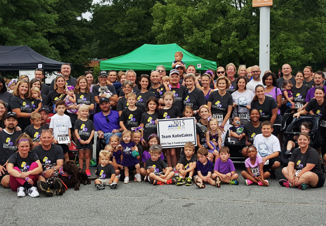 The entire team Katiecakes at a fundraiser walk and run for the Epilepsy Foundation of Georgia