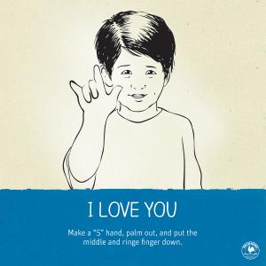 I love you sign language-