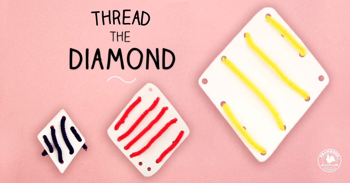 A Threading Craft To Help Develop Your Child's Fine Motor