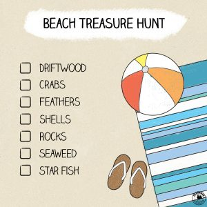 beach treasure hunt