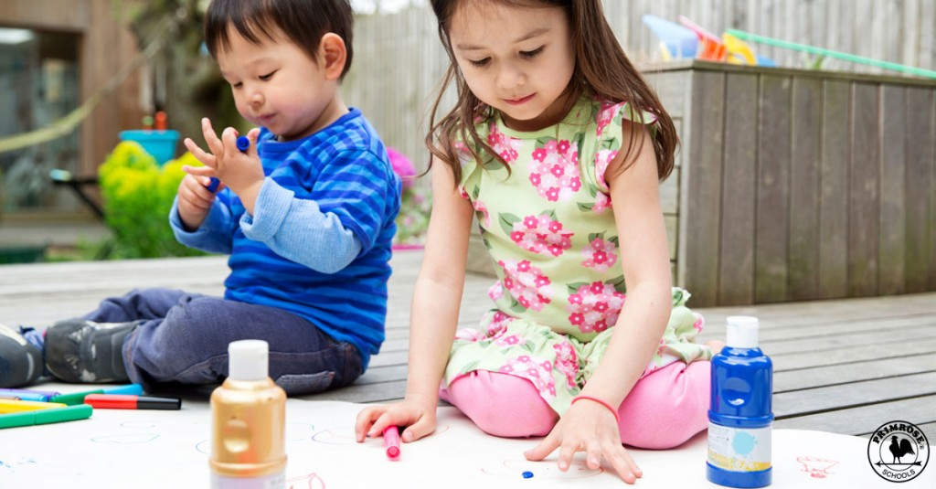 Two child enjoying summer learning fun activities
