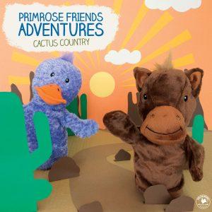 Primrose Puppets describing Friends Adventure in Cactus Country