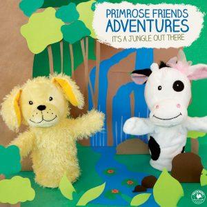 Primrose Puppets describing Friends Adventure in Jungle