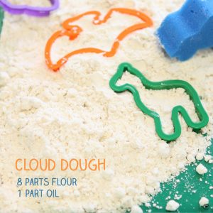 sensory activity cloud dough