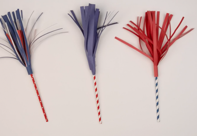 """Brighten Your July Fourth with Paper """"Sparklers"""""""
