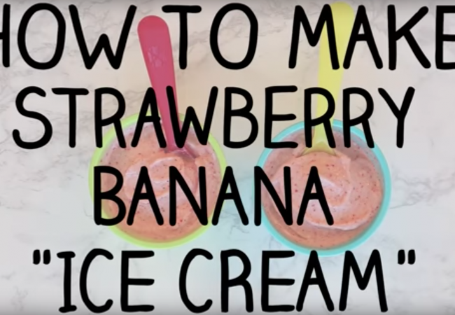 "Snacktivity: Strawberry Banana ""Ice Cream"""