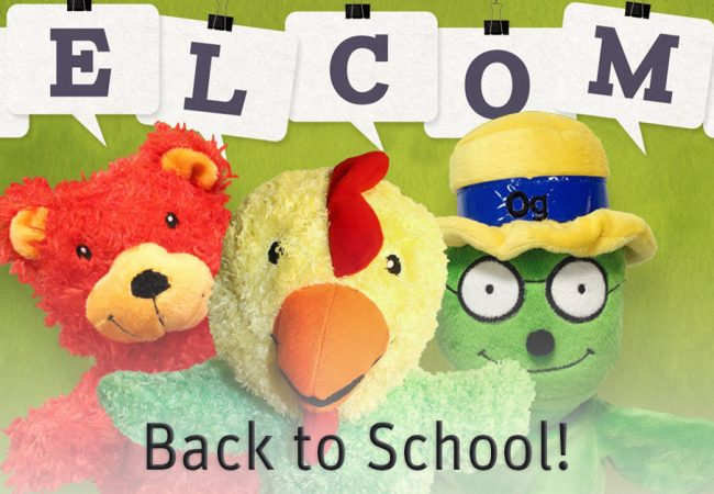 Primrose hand puppets welcome students back to school