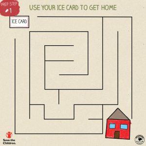 ICECard Maze game