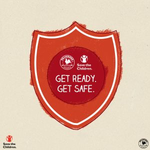 Safety Badge describing save the children