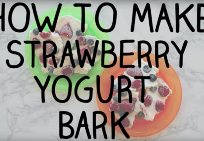 Snacktivity: Triple Berry Yogurt Bark