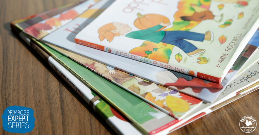 A collection of childern story books about fall