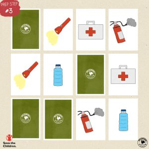 Disaster Supplies Memory Game