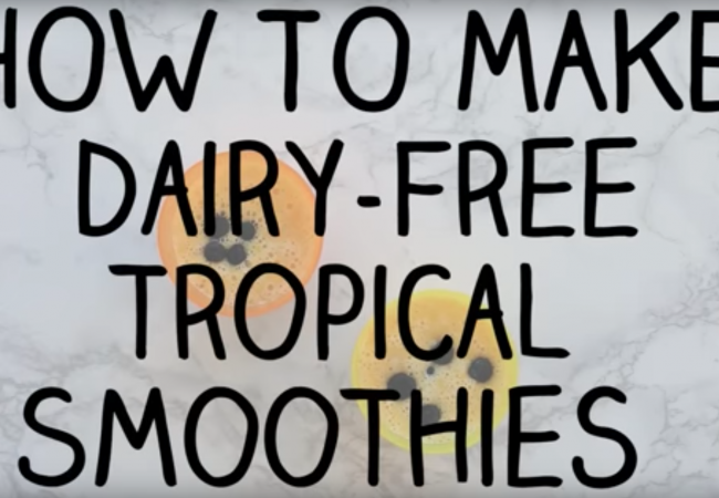 Snacktivity: Dairy-Free Tropical Smoothie