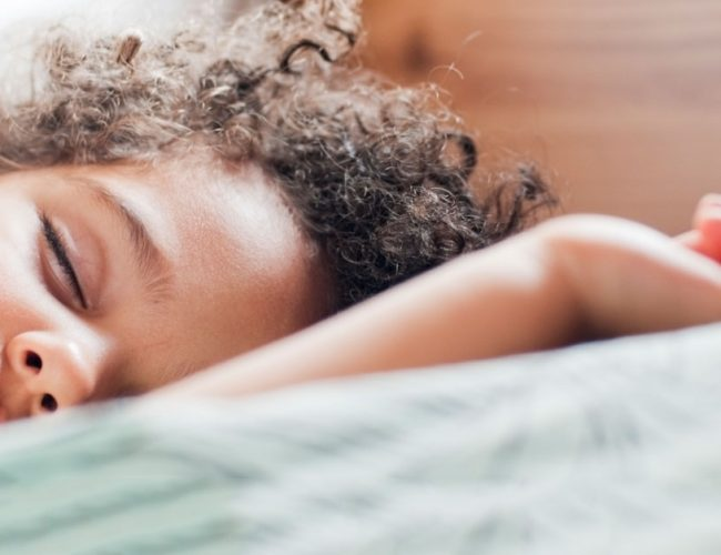 Young child sleeping soundly