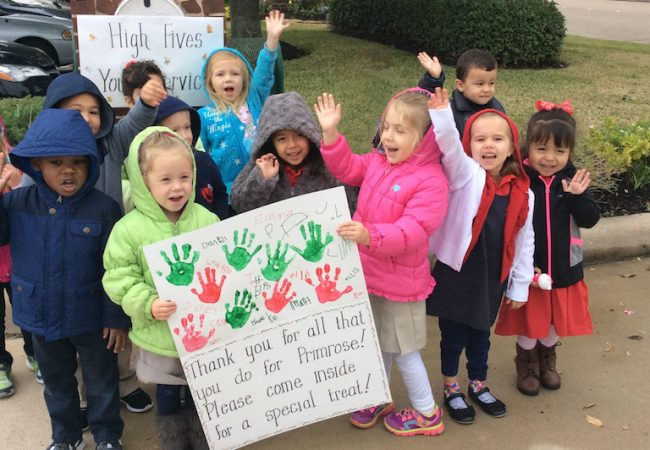Primrose students go holiday caroling