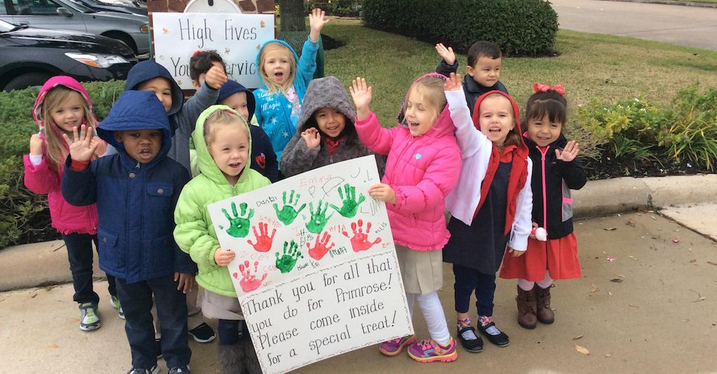 Primrose students go holiday caroling
