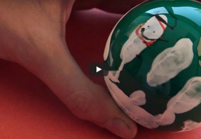 Winter Craft: Snowman Handprint