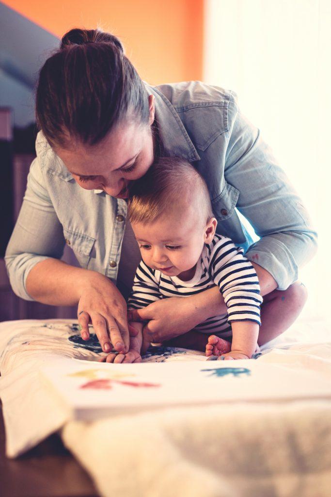 Handprint Painting for Teacher