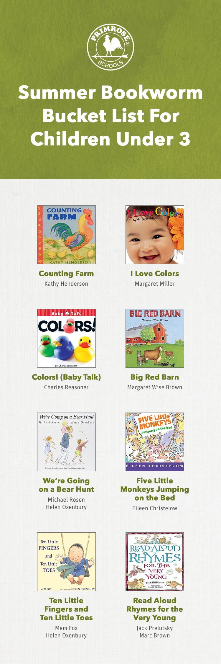 Reading list recs 2017, ages 0-3