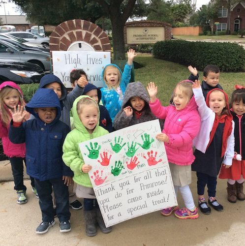 Preschool students sing carols during the holidays