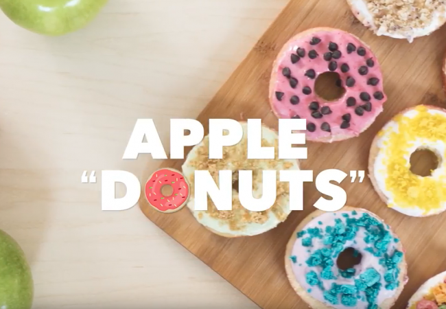 "Snacktivity: Apple ""Donuts"""
