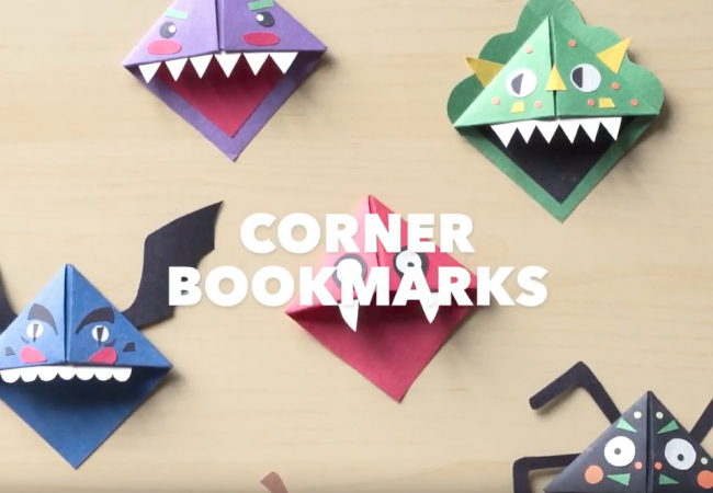 Get Crafty With These Corner Bookmarks