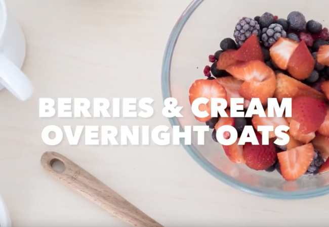 Snacktivity: Fruit Overnight Oats