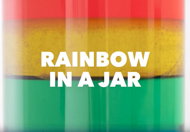 Science Fun: Rainbow in a Jar
