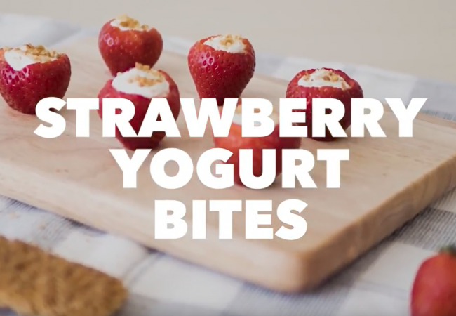 Snacktivity: Strawberry Yogurt Bites