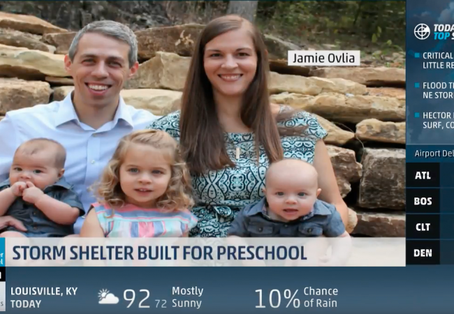 Primrose school featured on The Weather Channel for storm shelter