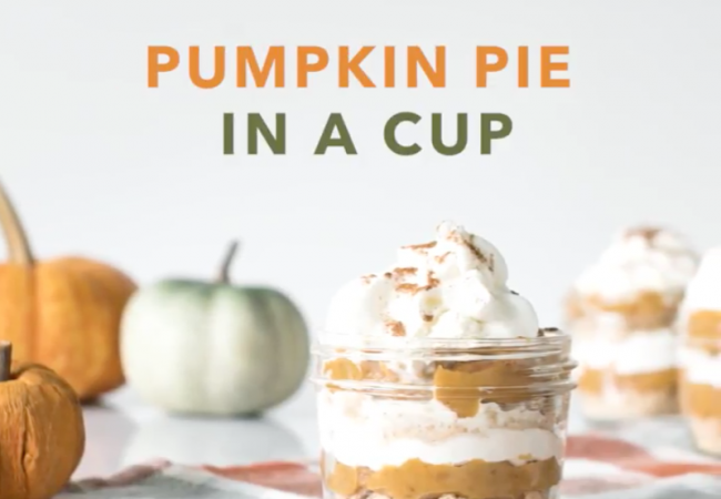 Snacktivity: Pumpkin Pie in a Cup