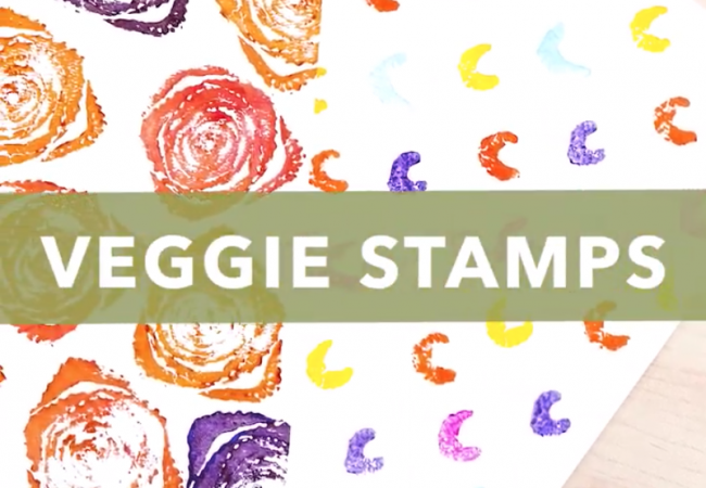 Veggie Stamps Craft