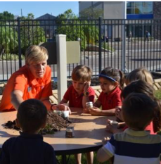 Primrose school of south tampa students meet with master gardener from university of florida