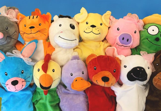 Group shot of Primrose Friends puppets
