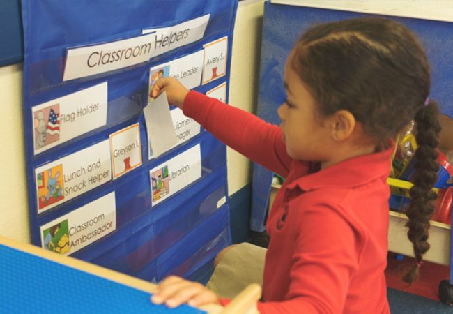 Primrose Classroom Helpers Learn Responsibility